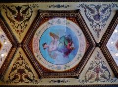 Immeuble en bordure du Palais-Royal, restaurant Le Grand Véfour - Deutsch: Decke des RestaurantsGrand Véfour im Palais Royal, Paris, Region Île-de-France, Frankreich