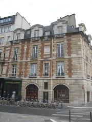 Immeuble - English: House were grew Madame Roland, 41 quai de l'Horloge, Paris 1st arr.