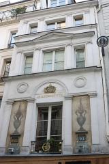 Immeuble - Deutsch: 93 rue Saint-Honoré in Paris, Inschrift: Au bourdon d'or