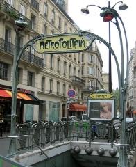 Métropolitain, station Châtelet -  Art Nouveau entrance to the Metro (Paris subway)