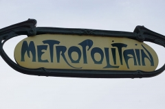 Métropolitain, station Louvre -  Louvre - Rivoli metro station, Paris.