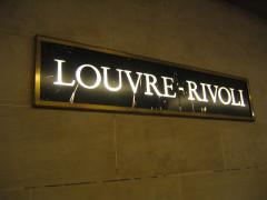 Métropolitain, station Louvre -  Paris metro sign