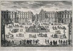 Place des Victoires : le sol - Deutsch: Aquarell: Place des Victoires (1660)