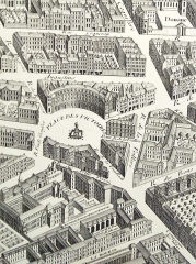 Place des Victoires : le sol - Deutsch: Kupferstich: Quartier des Victoires (1739)