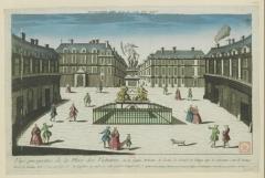 Place des Victoires : le sol - Deutsch: Aquarell: Place des Victoires, (1775)