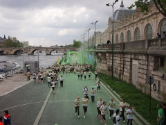 Pont-Royal - English: The green station on the 2014 Paris Color Run, located between the Musée d'Orsay and the Seine river