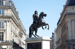 Statue de Louis XIV - English: Equestrian statue of King Louis XIV in Paris, Place des Victoires.