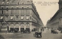 Statue de Jeanne d'Arc - English: L'Hôtel Regina au début du 20ème siècle.