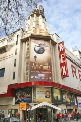Cinéma Rex - English: The Festival Jules Verne's Poster at The Grand Rex Theatre, Paris France