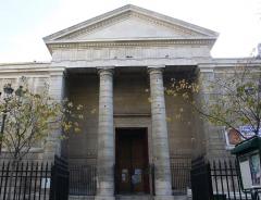 Eglise Notre-Dame-de-Bonne-Nouvelle - Deutsch: Katholische Pfarrkirche Notre-Dame-de-Bonne-Nouvelle im 2. Arrondissement von Paris, 1823-1830 von Etienne-Hippolythe Godde erbaut