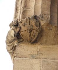 Ancien hôtel des ducs de Bourgogne : Tour de Jean Sans Peur - Blason des ducs de Bourgogne à la Tour Jean-sans-peur, à Paris