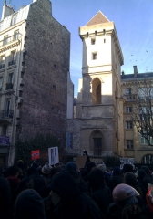 Ancien hôtel des ducs de Bourgogne : Tour de Jean Sans Peur - Paris - anti ACTA protest 11 February 2012
