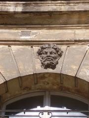 Ancien hôtel Gigault de La Salle, ou hôtel André-d'Arbelles, ou hôtel Biliotti - English: Mascaron on the hôtel Gigault de La Salle - 10 place des Victoires, Paris