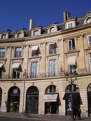 Ancien hôtel de Prévenchères, ou hôtel Lenoir - English: Hôtel de Prévenchères, on place des Victoires (Victories Square) Paris