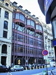 Immeuble, ancien siège du quotidien Le Parisien Libéré -  124 Rue Reaumur; Industrial and commercial building - General view