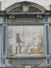 Ancien marchand de café - English: Painting of shop