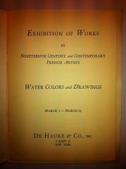 Passage Choiseul et passage Sainte-Anne - English: De Hauke & Co., French artists exhibition, New York