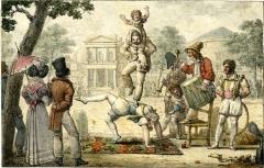 Théâtre des Variétés - English: Tableaux de Paris / Les sauteurs en face les Variétés