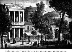 Théâtre des Variétés -  The Théâtre des Variétés in Paris, France, 1800s