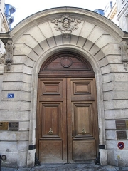 Hôtel de Montmor ou de Montholon - English: Door of the hôtel de Montmort : 79 rue du Temple, Paris 3rd arr.