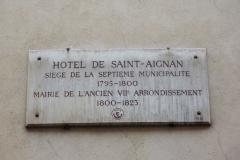 Ancien hôtel de Saint-Aignan (ou hôtel d'Avaux, de Rochechouart, d'Asnières), actuellement musée d'art et d'histoire du Judaïsme - Deutsch: Hôtel de Saint-Aignan, 71, rue du Temple im 3. Arrondissement von Paris, Gedenktafel