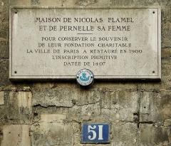 Maison dite de Nicolas Flamel - Deutsch: Haus von Nicolas Flamel und seiner Frau Pernelle, Paris.