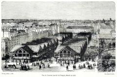 Marché du Temple - Français:   Vue de l\'ancien marché du Temple, démoli en 1863.
