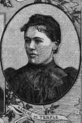Marché du Temple - Français:   Mlle Desrousse Reine du Marché du Temple 1898.