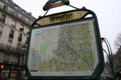 Métropolitain, station Temple -  Temple station entrance