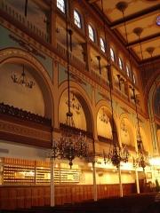 Synagogue -  Synagogue de Nazareth, rue Notre Dame de Nazareth in Paris. Internal view