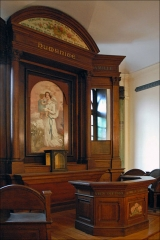 Temple de l'Humanité ou du Positivisme - L\'autel de la religion de l\'Humanité  Chapelle de l\'Humanité,   5 rue Payenne, à Paris