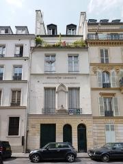 Temple de l'Humanité ou du Positivisme - English: Façade of the temple of Humankind, 5 rue Payenne, Paris.