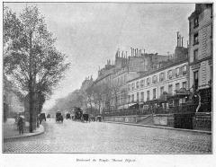 Théâtre Dejazet - Français:   Clément Maurice Paris en plein air, BUC, 1897, Boulevard du Temple. Devant Déjazel