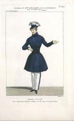 Théâtre Dejazet - English: Virginie Déjazet in the role of Charles in Le triolet bleu