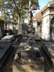 Théâtre Dejazet - English: Tomb of Virginie Déjazet at division 81 of Père Lachaise Cemetery in Paris