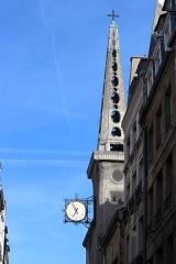 Eglise Saint-Louis-en-l'Ile - Español: París. Campanario de Saint Louis en-l'île.