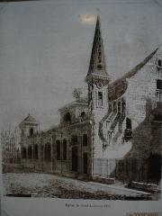 Eglise Saint-Louis-en-l'Ile -  Photo of an engraving of the 18 century, showing the church Saint-Louis-en-l'Île (Île saint-Louis in Paris)