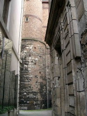 Enceinte de Philippe-Auguste -  Paris, Remainung tower of the Philipp-Augustus city walls, rue de Francs-Bourgeois