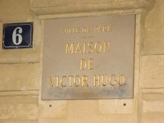 Hôtel Arnaud ou de Rohan-Guéménée -  Maison de Victor Hugo, Place des Vosges, Paris, France.