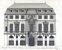Hôtel de Beauvais, actuellement Cour Administrative d'Appel de Paris - French graphic artist, engraver and architect
