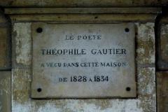 Hôtel de Fourcy - Deutsch: Hôtel de Fourcy in Paris, 8 place des Vosges, Gedenktafel für Théophile Gautier