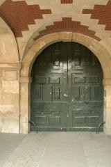Hôtel de Fourcy - English:   Door of 8 Place des Vosges, Paris.