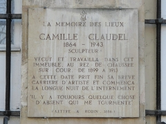 Ancien hôtel de Jassaud - English: Plaque in memory of en:Camille Claudel, 19 quai de Bourbon, Paris 4th arron.