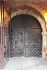 Hôtel Laffemas - English:   Door of 22 Place des Vosges, Paris.