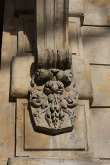 Hôtel Lefebure de la Malmaison - Deutsch: Konsole mit Pflanzenmotiv am Hauseingang 22, Quai de Béthune auf der Île Saint-Louis im 4. Arrondissement in Paris
