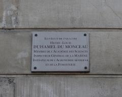 Immeuble - Deutsch: Gedenktafel für Henri Louis Duhamel du Monceau in Paris (4. Arrondissement), 13 quai d'Anjou