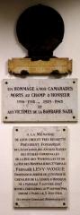 Immeuble - English: At the école communale de la rue des Hospitalières-Saint-Gervais (Paris, 4th arr.), three commemorative plaques dedicated to the memory of Lyon Leopold, Fernand Lévy-Wogue (1867-1944) and