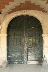 Immeuble - English:  Door of 4 Place des Vosges, Paris.