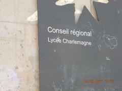 Lycée Charlemagne (ancienne maison professe des Jésuites) - English: Conseil regional Lycee Charlemagne, Paris
