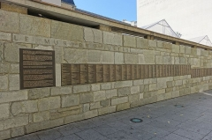 Mémorial du Martyr juif inconnu, actuel Centre de documentation juive contemporaine -  Mur des Justes @ Mémorial de la Shoah @ Paris